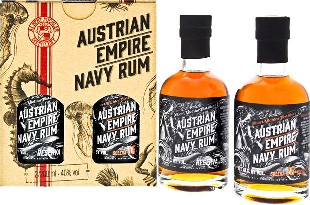 Rum Austrian Empire Reserva 1863 + Solera 18y 2×0,2l 40% GB