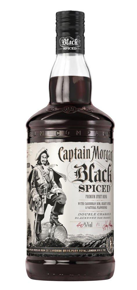 Rum Captain Morgan Black Spiced 1l 40%