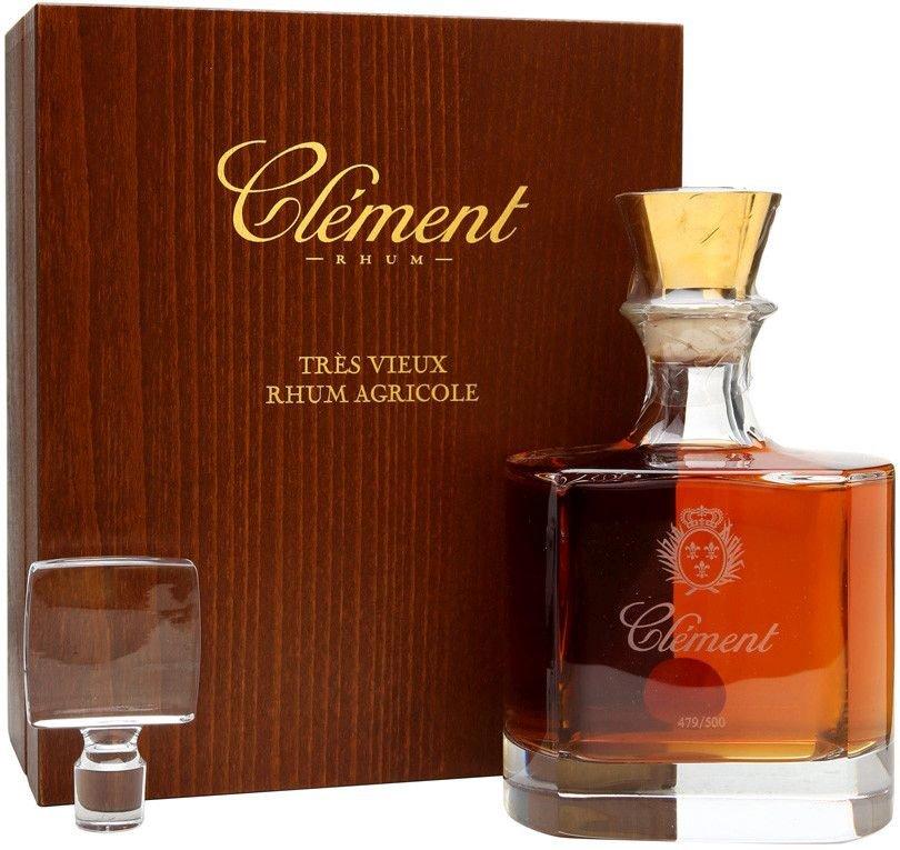 Rum Clément Trés Vieux Agricole Carafe Cristal 0,7l 44% GB