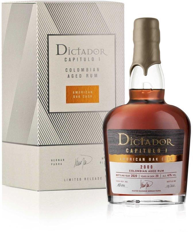 Rum Dictador Capitulo Uno American Oak Cask 20y 2000 0,7l 41% / Rok lahvování 2020