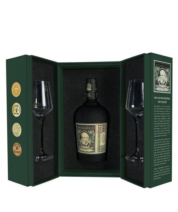 Rum Diplomático Reserva Exclusiva Ritual set 12y 0,7l 40% + 2x sklo GB