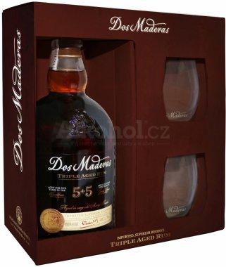 Rum Dos Maderas  Ron  Superior Reserve PX 10y 0,7l 40% + 2x sklo GB