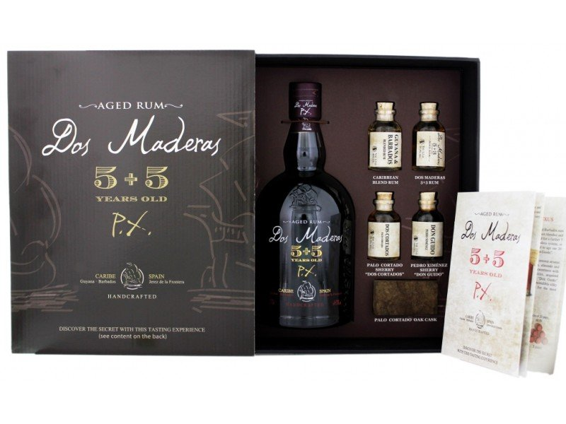 Rum Dos Maderas Testing set PX 10y 0,7l 40% GB