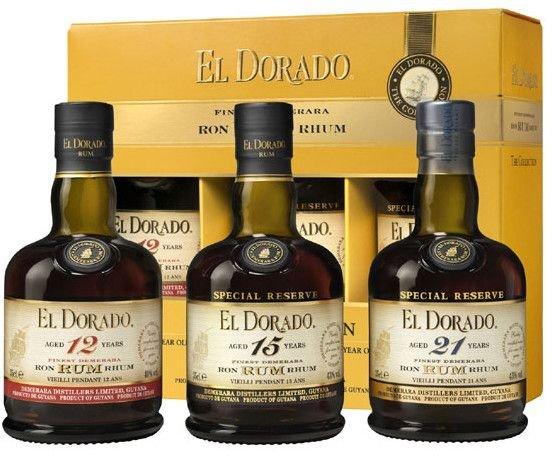 Rum El Dorado The Collection 12y, 15y & 21y 3×0,35l GB