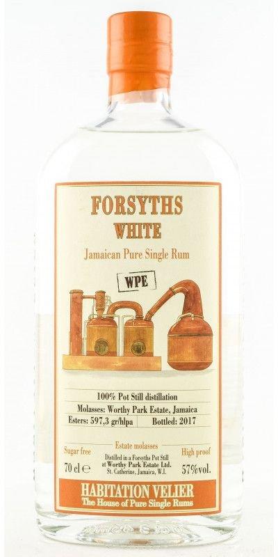 Rum Habitation Velier FORSYTHS WHITE WPE Jamaica Pure Single Rum 0,7l 57%