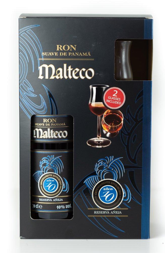 Rum Malteco 10y 0,7l 40% + 2x sklo GB