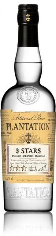 Rum Plantation White 3 Stars 0,7l 41,2%