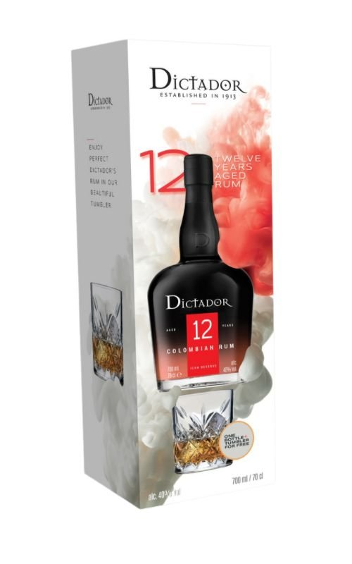 Rum Rum Dictador 12y 0,7l 40% + 1x sklo GB