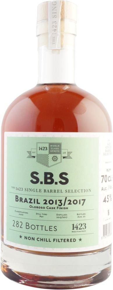 Rum S.B.S Brazil 2013/2017 0,7l 45% / Rok lahvování 2020