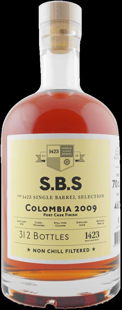 Rum S.B.S Columbia 10y 2009 0,7l 46% L.E. / Rok lahvování 2019