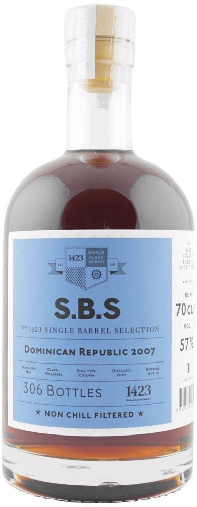 Rum S.B.S Dominican Republic 12y 2007 0,7l 57% L.E. / Rok lahvování 2019