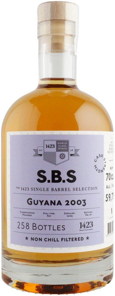 Rum S.B.S Guyana 17y 2003 0,7l 59,7% L.E. / Rok lahvování 2020