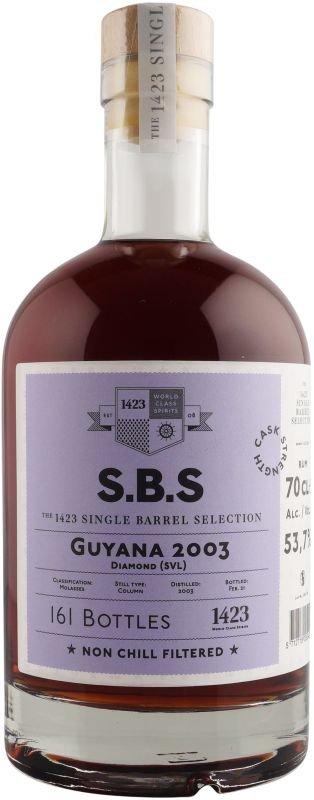 Rum S.B.S Guyana 2003 0,7l 53,7% L.E.