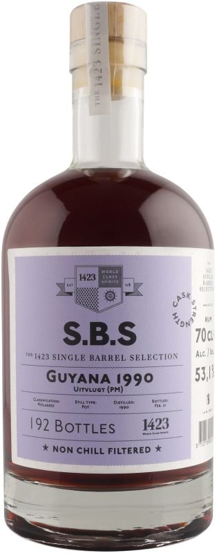 Rum S.B.S Guyana 21y 1990 0,7l 53,1% GB L.E. / Rok lahvování 2020