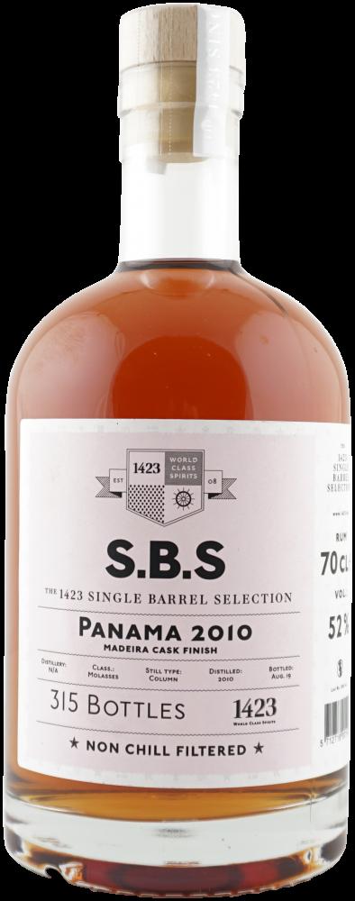 Rum S.B.S Panama 9y 2010 0,7l 52% L.E. / Rok lahvování 2019