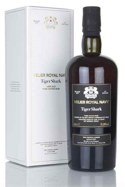 Rum Velier Royal Navy Tiger Shark 14y 0,7l 57,18% GB